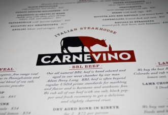 Huge menu. Save room for the rib eye as the sides are just so-so.