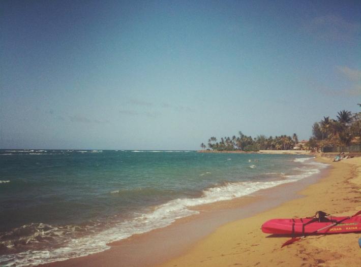 """Dorado Beach in Dorado, Puerto Rico. """"Home"""" for a week."""