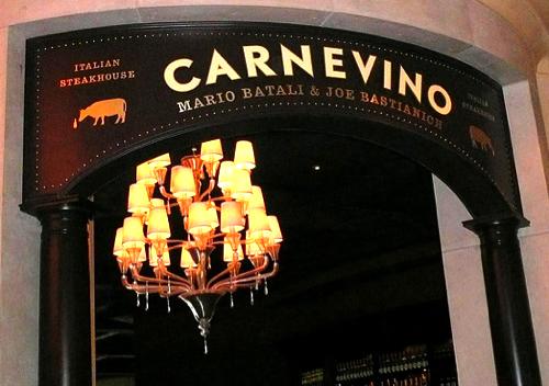 Carnevino, located inside the Palazzo hotel.