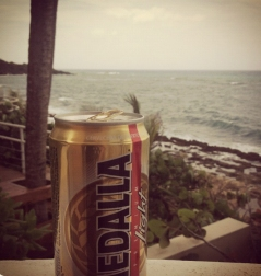 Medalla light: the perfect compliment to your fried food indulgence.