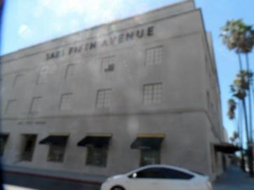 An LA landmark - the Saks where Winona was arrested for shoplifting.