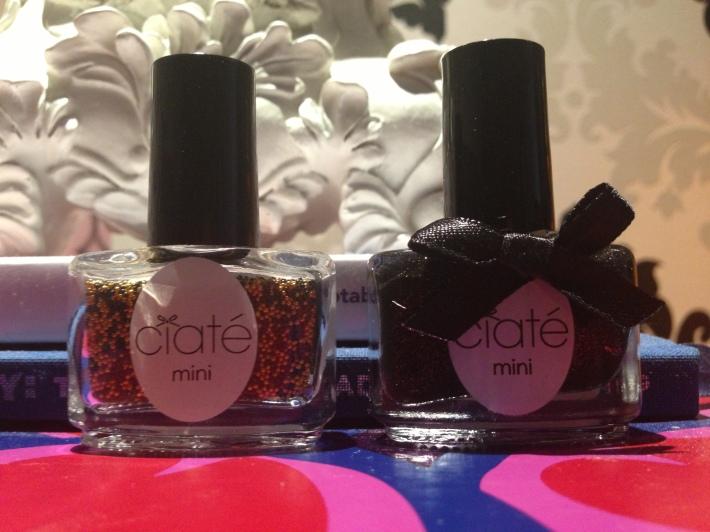 Ciate in bumble bee caviar beads and twilight polish.