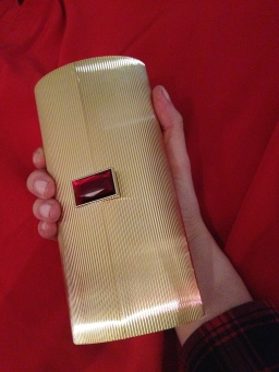 Delightful little clutch. Even better, it holds an iPhone!