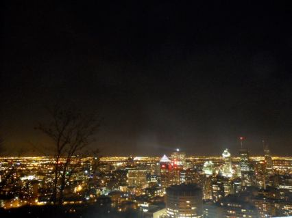 View of Montreal from the lookout.