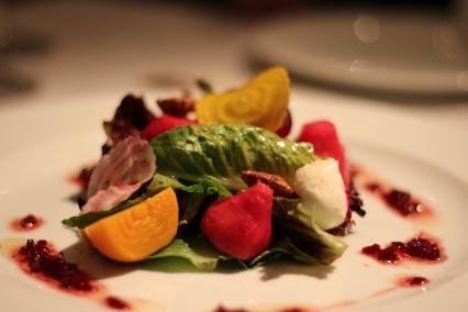 Local beet salad.